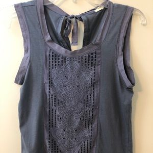 J. Crew Lace Panel Sleeveless Shirt